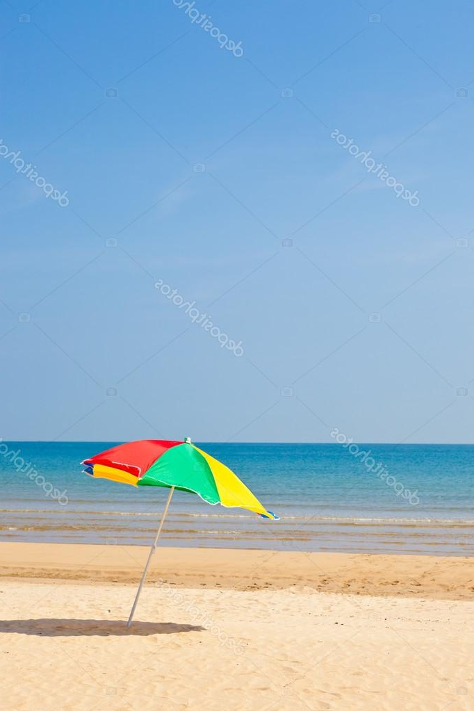 Latest Seaside Beach Umbrella — Stock Photo © Kenjii #18355339 Pertaining To Seaside Beach Umbrellas (View 11 of 25)