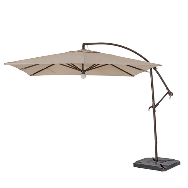 Latest Weybridge 10' Square Cantilever Umbrella Within Nasiba Square Cantilever Sunbrella Umbrellas (View 13 of 25)