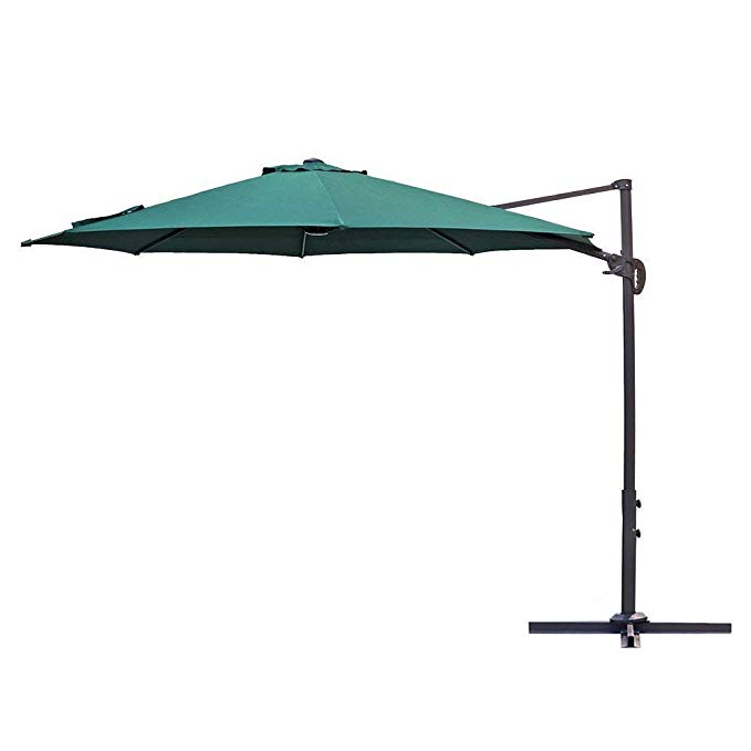 Le Papillon 10 Ft Cantilever Umbrella Outdoor Offset Patio Umbrella Easy  Open, Tilt & 360 Swivel For Desired Shade All Day Regarding Newest Voss Cantilever Sunbrella Umbrellas (View 12 of 25)