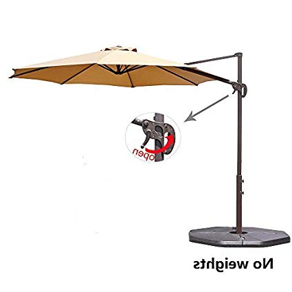 Le Papillon 10 Ft Cantilever Umbrella Outdoor Offset Patio Umbrella Easy  Open, Tilt & 360 Swivel For Desired Shade All Day Throughout Famous Tottenham Patio Hanging Offset Cantilever Umbrellas (View 8 of 25)