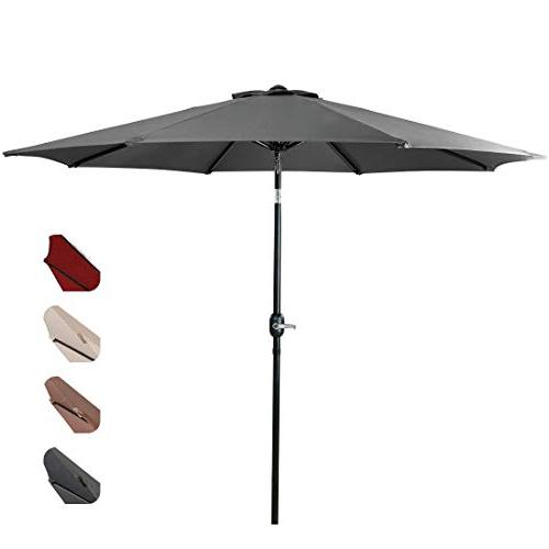 Leachville Market Umbrellas Throughout Well Known Market Umbrella 9 Ft: Amazon (View 14 of 25)