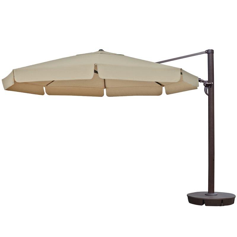 Lennie 13' Cantilever Sunbrella Umbrella For Most Recently Released Lennie Cantilever Sunbrella Umbrellas (View 4 of 25)
