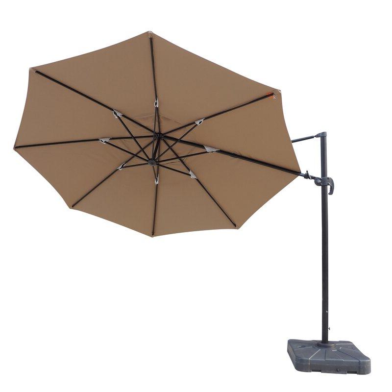 Lennie Cantilever Sunbrella Umbrellas In Widely Used Lennie 13' Cantilever Sunbrella Umbrella (View 5 of 25)