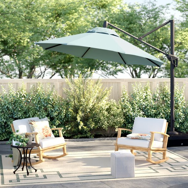 Lennie Cantilever Sunbrella Umbrellas Inside 2018 Sunbrella Spa Umbrella (View 15 of 25)