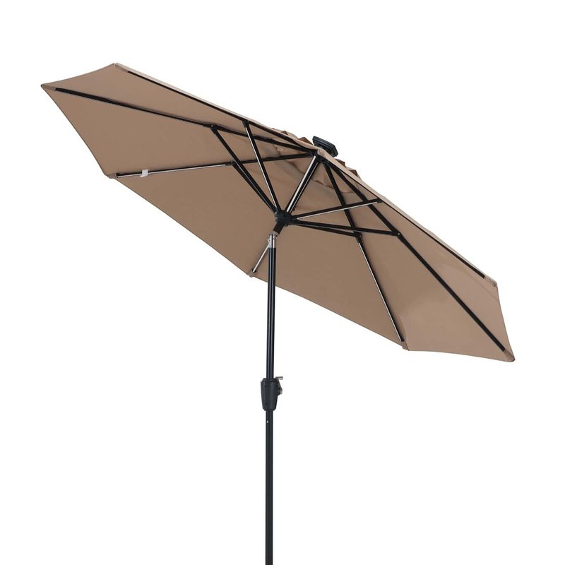 Llanes 9' Lighted Umbrella With Regard To Widely Used Hettie Solar Lighted Market Umbrellas (View 6 of 25)