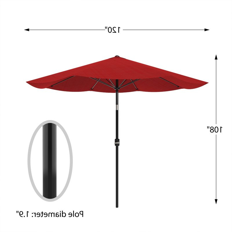 Lorinda Market Umbrellas Throughout Favorite Kelton 10' Market Umbrella (View 23 of 25)