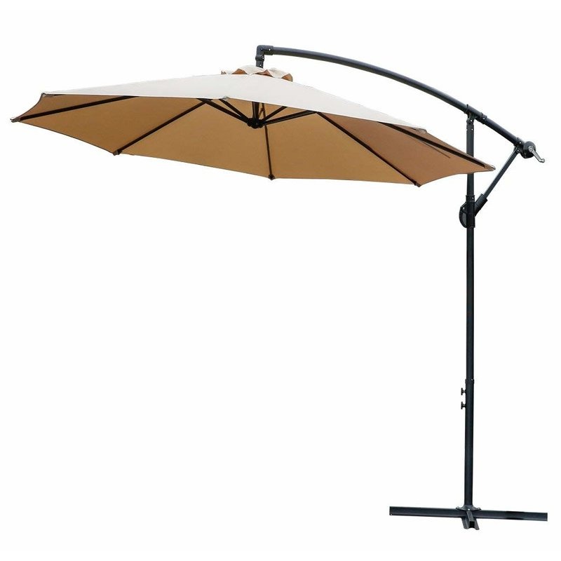 Lutie 10' Cantilever Umbrella Within Fashionable Yajaira Cantilever Umbrellas (View 2 of 25)