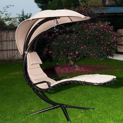 Maglione Fabric Cantilever Umbrellas In Best And Newest Latitude Run Mcadory Outdoor Hammock Hanging Chaise Lounger With (View 8 of 25)