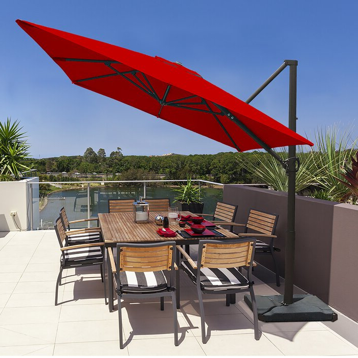 Maglione Fabric Cantilever Umbrellas Throughout Popular Fordwich 8' X 10' Rectangular Cantilever Umbrella (View 11 of 25)