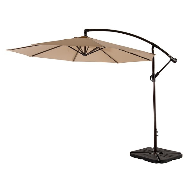 Maglione Fabric Cantilever Umbrellas With Regard To Most Up To Date Karr 10' Cantilever Umbrella (View 12 of 25)