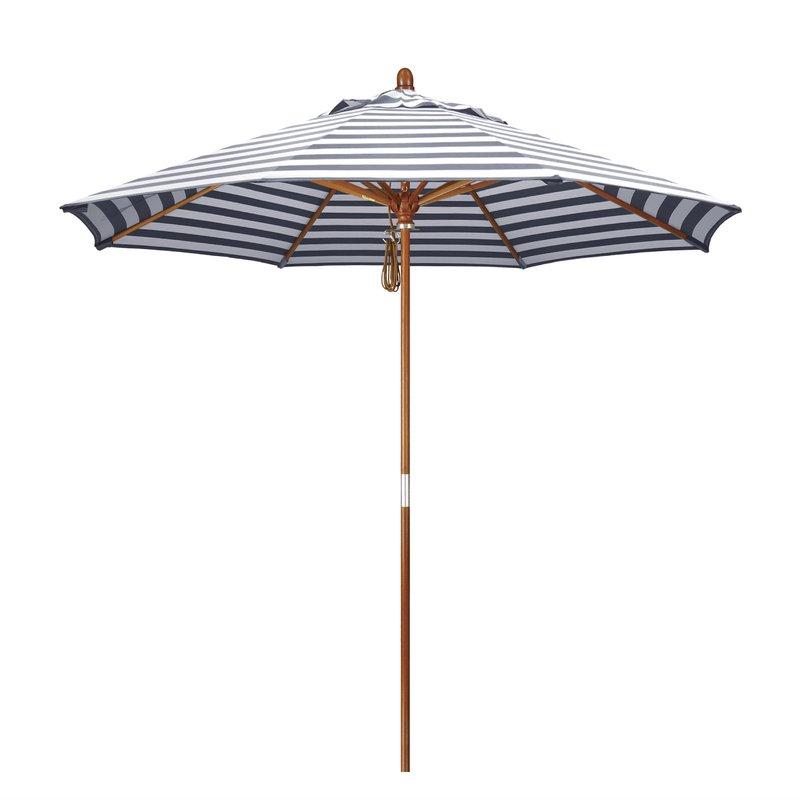 Mare 9' Market Umbrella Throughout Recent Darwen Tiltable Patio Stripe Market Umbrellas (View 12 of 25)