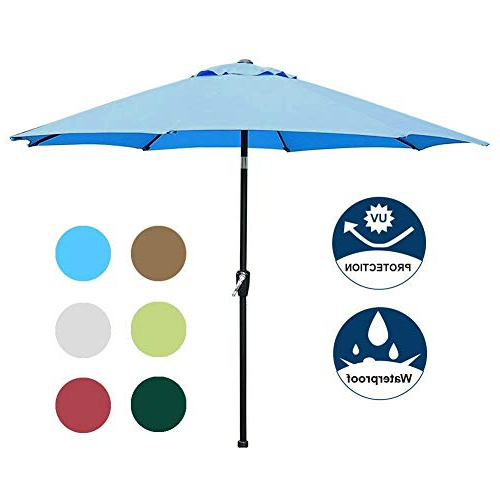 Market Umbrella 9 Ft: Amazon Intended For Well Known Leachville Market Umbrellas (View 18 of 25)