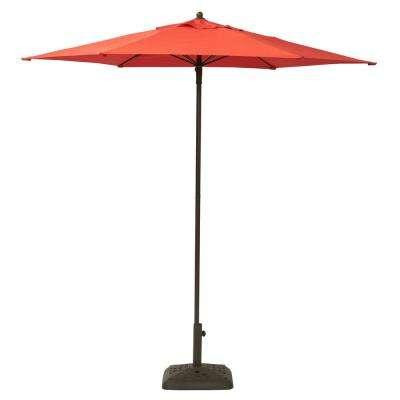 Market Umbrellas – Patio Umbrellas – The Home Depot Pertaining To Well Liked Iyanna Market Umbrellas (View 14 of 25)