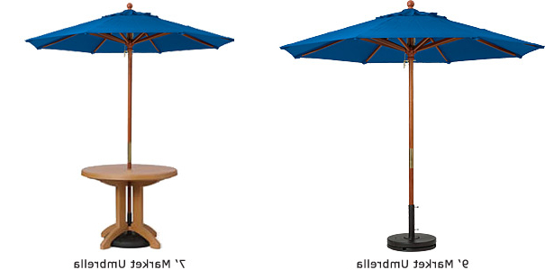 Market Umbrellas Within Most Recent Commerical Market Umbrellas With Wood Pole (View 19 of 25)