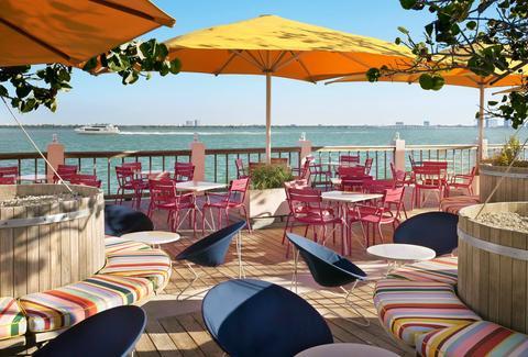 Miami's 13 Best Waterfront Bars – Thrillist Within Well Liked Monty Half Market Umbrellas (View 12 of 25)