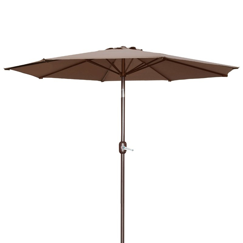 Milligan Hexagonal Outdoor Garden Patio Market Umbrella For Most Recent Wallach Market Sunbrella Umbrellas (View 6 of 25)