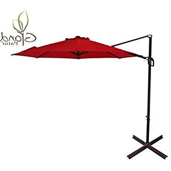Most Current Amazon : Le Papillon 10 Ft Cantilever Umbrella Outdoor Offset In Voss Cantilever Sunbrella Umbrellas (View 9 of 25)