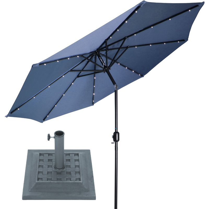 Most Current Brecht 9' Lighted Umbrella With Regard To Branam Lighted Umbrellas (View 3 of 25)