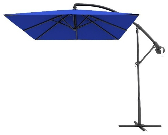 Most Current Cora Square Cantilever Umbrellas For Dark Blue Square Offset Cantilever Umbrellas, 10' (View 8 of 25)