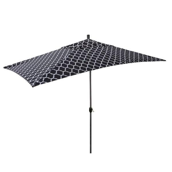 Most Current Devansh Market Umbrellas In Sherlyn 10' X 6' Rectangular Market Umbrella (View 15 of 25)