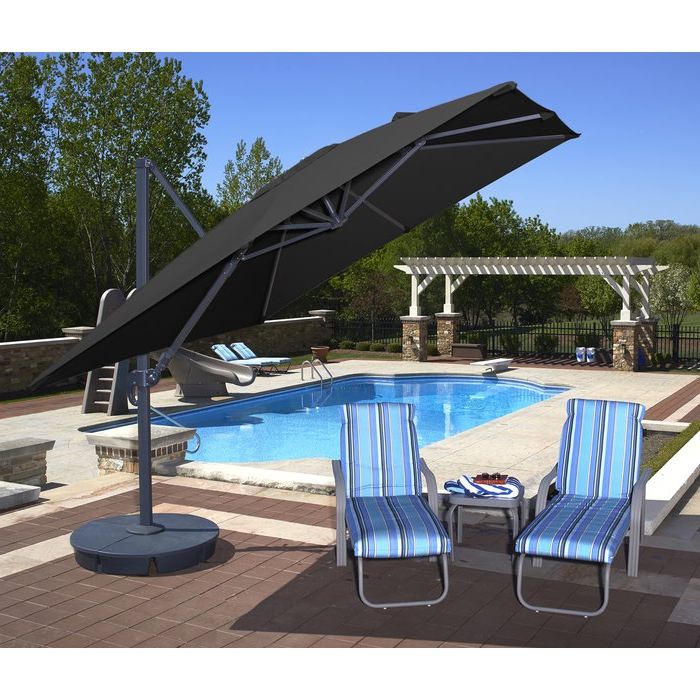 Most Current Emely 10' Cantilever Sunbrella Umbrella In Emely Cantilever Sunbrella Umbrellas (View 12 of 25)