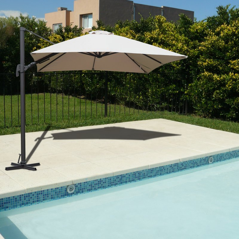 Most Current Grote Liberty Aluminum Square Cantilever Umbrellas With Grote Liberty Aluminum Square Cantilever Umbrella (View 3 of 25)