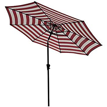 Most Current Kerner Steel Beach Umbrellas Throughout Amazon : Sunnydaze 5 Foot Outdoor Beach Umbrella With Tilt (View 18 of 25)