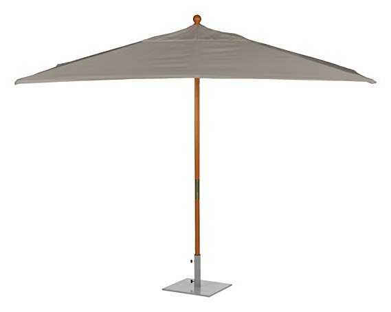 Most Current Oxford Garden Sunbrella 10 Foot Rectangular Market Umbrella, Hunter Green Intended For Fordbridge Rectangular Market Umbrellas (View 14 of 25)