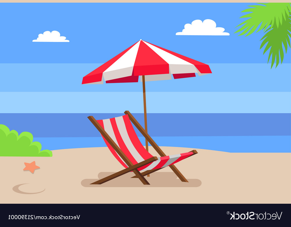 Most Current Seaside And Hammock Chair Under Umbrella Palm Tree With Seaside Beach Umbrellas (View 8 of 25)