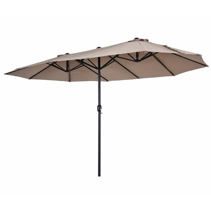Most Current Solihull 9 X 15 Rectangular Market Umbrella Regarding Capresa Market Umbrellas (View 13 of 25)