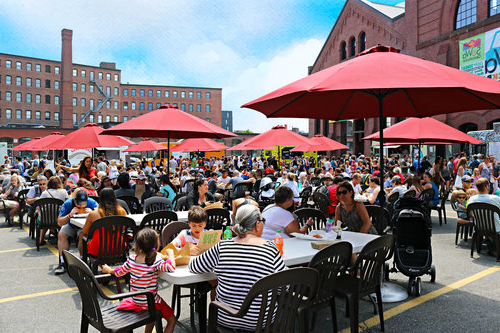 Most Current Sowa Open Market In Boston – Arts & Crafts, Food & Restaurants, Food Within Hilma Solar Cantilever Umbrellas (View 18 of 25)
