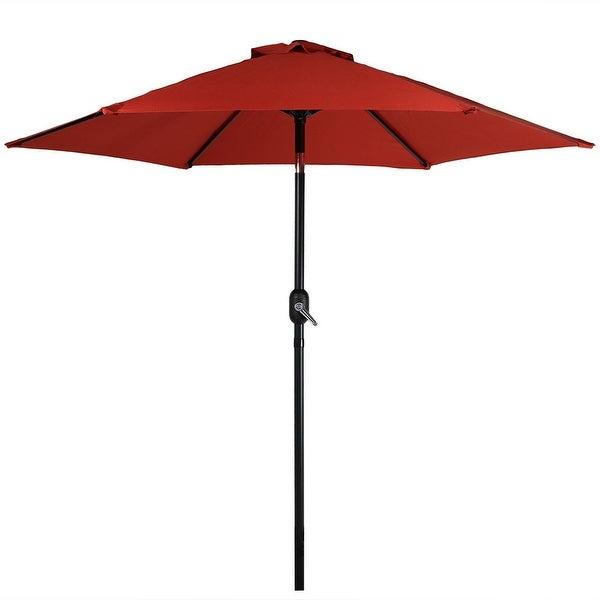 Most Current Stacy Market Umbrellas Inside Shop Sunnydaze Patio Market Umbrella W/ Tilt & Crank (View 9 of 25)