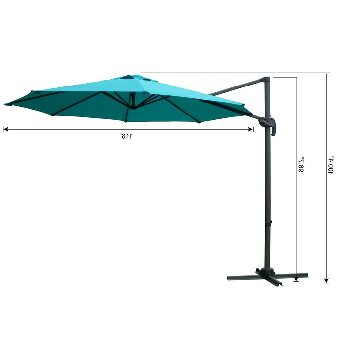 Most Current Tottenham Patio Hanging Offset 10' Cantilever Umbrella In Tottenham Patio Hanging Offset Cantilever Umbrellas (View 9 of 25)