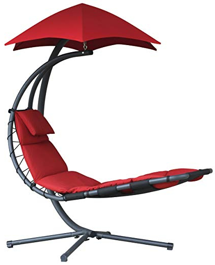 Most Current Vivere Original Dream Chair, Cherry Red Inside Maglione Fabric Cantilever Umbrellas (View 14 of 25)