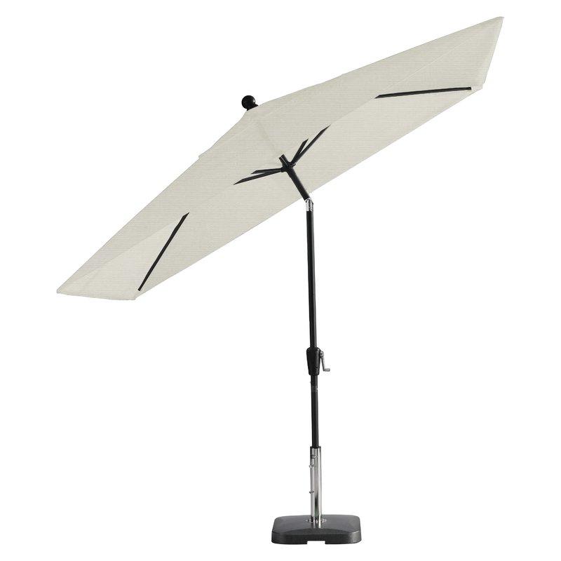 Most Current Wiechmann Push Tilt 9' X 7' Rectangular Market Umbrella For Wiechmann Push Tilt Market Sunbrella Umbrellas (View 10 of 25)