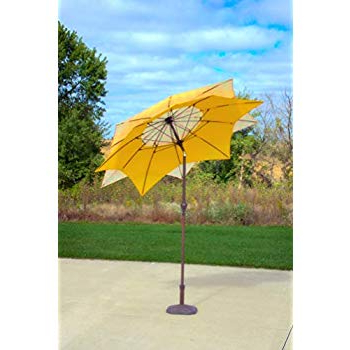Most Popular Amazon : Pebble Lane Living Exclusive 3 Tier Patio Umbrella With Intended For Caravelle Market Umbrellas (View 13 of 25)