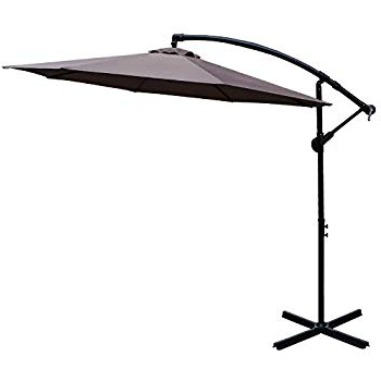 Most Popular Elaina Cantilever Umbrellas In Amazon : Best Choice Products 10Ft Solar Led Offset Hanging (View 13 of 25)