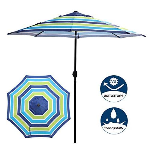 Most Popular Market Umbrella 9 Ft: Amazon Pertaining To Leachville Market Umbrellas (View 6 of 25)