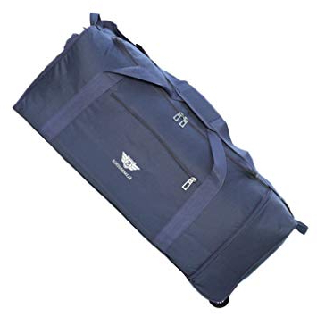Most Popular Slimbridge Extra Large Foldable Wheeled Luggage Travel Holdall Bag Xl 32 Inch 950 Grams 87 Litres With 2 Wheels, Havant Blue Regarding Havant Market Umbrellas (View 17 of 25)