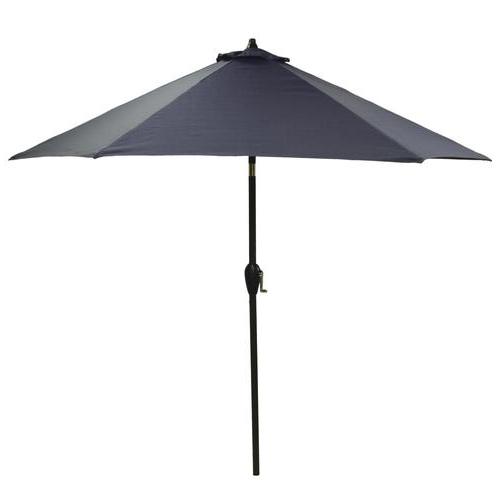 Most Popular Solid Market Umbrellas Regarding Backyard Creations™ 9' Baltic Solid Patio Market Umbrella At Menards® (View 14 of 25)