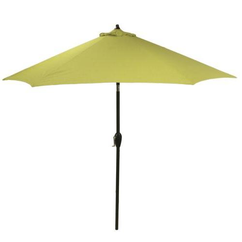 Most Popular Solid Market Umbrellas With Backyard Creations™ 9' Monroe Solid Patio Market Umbrella At Menards® (View 10 of 25)