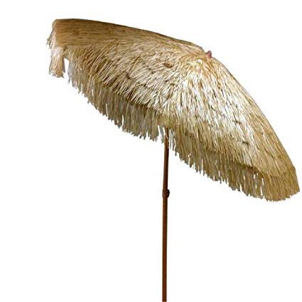 Most Popular Tropical Patio Umbrellas In Bayside21 Tiki Umbrella 8' Thatch Patio Umbrella Tropical Palapa Raffia Tiki Hut Hawaiian Hula Beach Umbrella With Tilt And Fabric Bag (8Ft Tilt, (View 21 of 25)