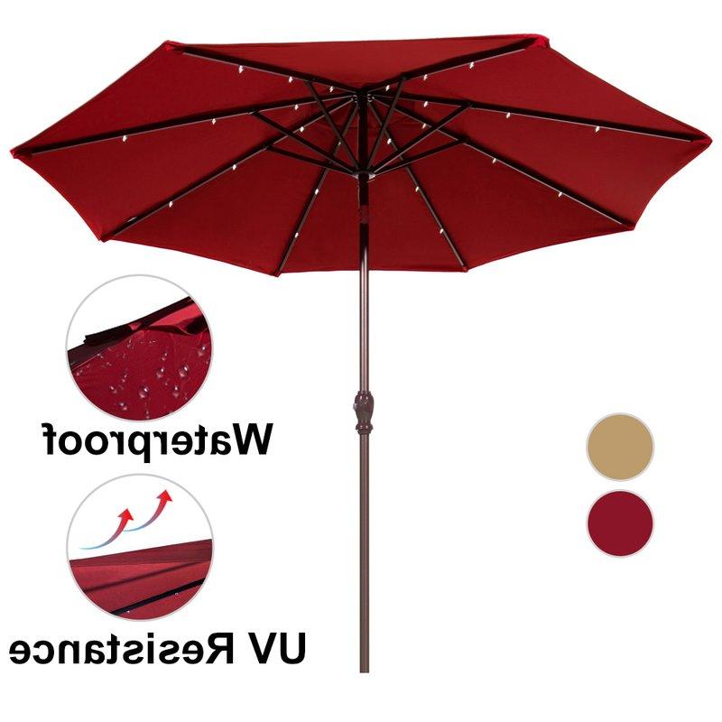 Most Recent 9' Lighted Umbrella Throughout Brecht Lighted Umbrellas (View 4 of 25)