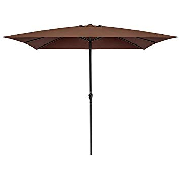 Most Recent Carlton  Rectangular Market Umbrellas Inside Amazon : California Umbrella 11' X 8' Rectangle Aluminum Market (View 5 of 25)