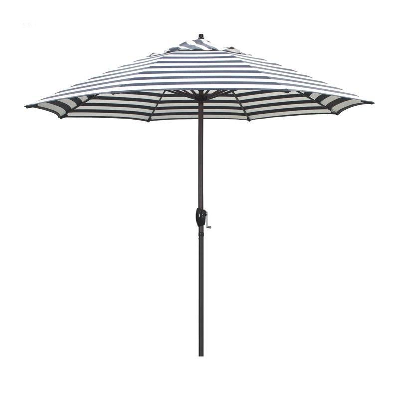 Most Recent Darwen Tiltable Patio Stripe Market Umbrellas Pertaining To Cardine 9' Market Umbrella (View 14 of 25)
