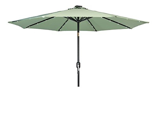 Most Recent Details About Trademark Innovations Deluxe Solar Powered Led Lighted Patio  Umbrella – 9' – With Regard To Solar Powered Led Patio Umbrellas (View 6 of 25)