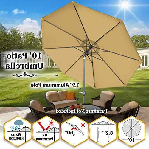 Most Recent Emely Cantilever Sunbrella Umbrellas Pertaining To Shopping Umbrellas & Shade – 1 Star & Up – Unbeatablesale, Inc Or (View 23 of 25)