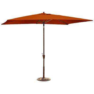 Most Recent Island Umbrella – Orange – Solid – Market Umbrellas – Patio Inside Solid Rectangular Market Umbrellas (View 6 of 25)