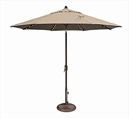 Most Recent Lanai Market Umbrellas With Regard To Amazon : Simplyshade Lanai Pro Patio Umbrella In Beige : Garden (View 1 of 25)