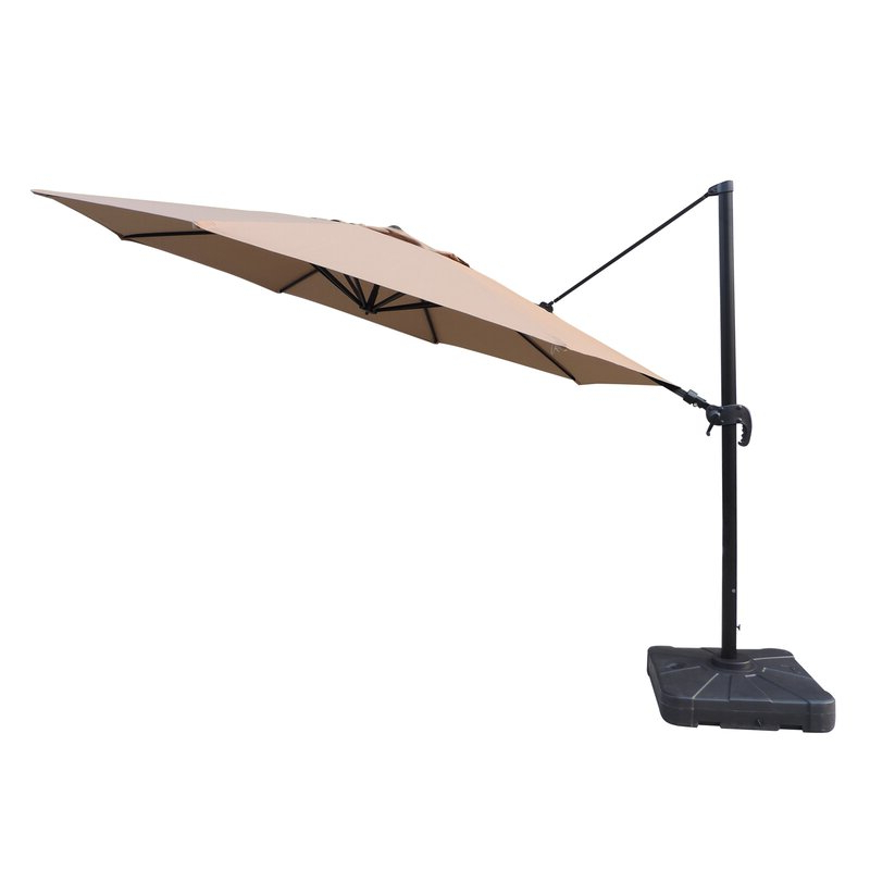 Most Recent Lennie Cantilever Sunbrella Umbrellas Pertaining To Lennie 13' Cantilever Sunbrella Umbrella (View 10 of 25)